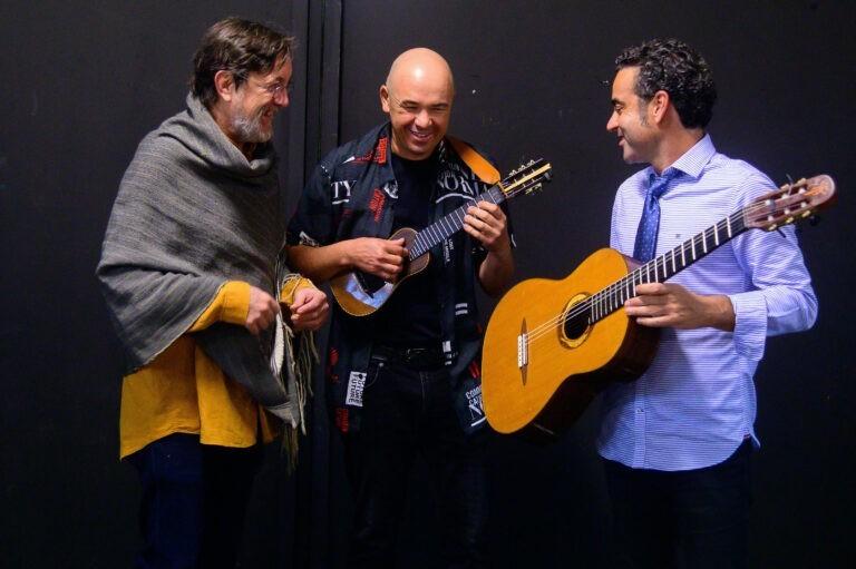 Alexis Lemes y Javier Infante, con Javier Colina