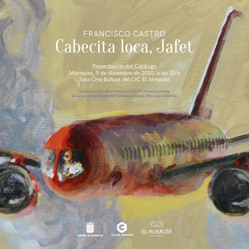 Portada catálogo Cabecita Loca, Jafet, de Francisco Castro